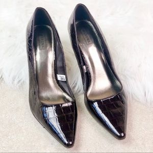 Merona Brown Glossy Heels